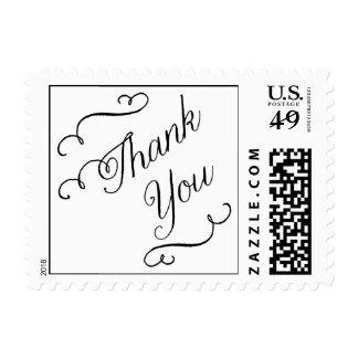 Flourish Thank you Stamp