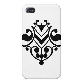 _flourish_Vector_Clipart Black White Swirls iPhone 4/4S Covers