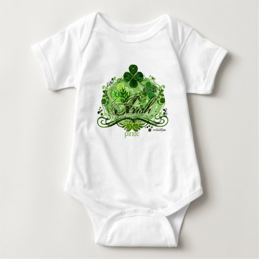 Flourish verde del irlandés body para bebé