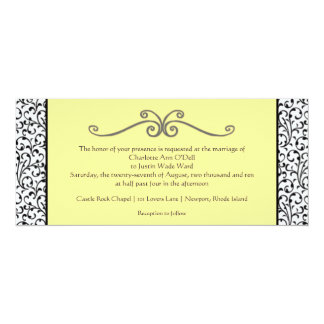 flourish; wedding card