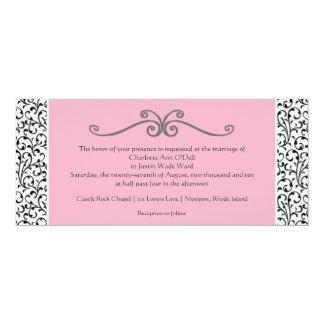 "flourish; wedding 4"" x 9.25"" invitation card"