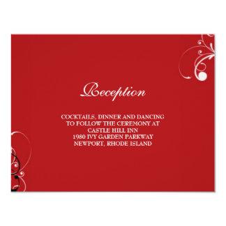 flourish wedding reception card