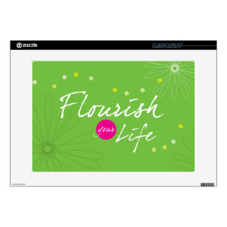 """Flourish Your Life Decal For 15"""" Laptop"""