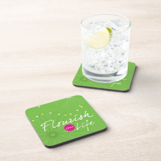 Flourish Your Life Drink Coaster