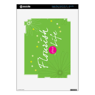 Flourish Your Life iPad 3 Skin