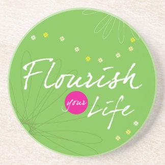 Flourish Your Life Sandstone Coaster