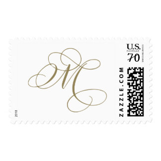 """Flourished Calligraphy Letter Stamp - """"M"""""""