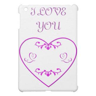 Flourished purple heart iPad mini cover
