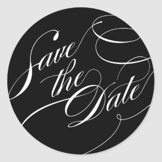 Flourished Save the Date Sticker