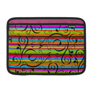 Flourished Stripes Sleeve For MacBook Air
