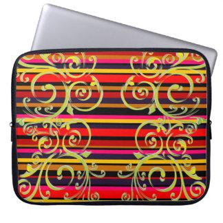 Flourished Stripes Laptop Sleeves