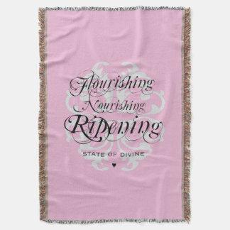 """""""Flourishing Nourishing"""" Woven Throw Blanket"""