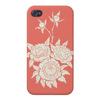 flourishing peonies case for iPhone 4