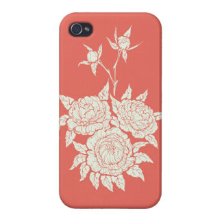 flourishing peonies iPhone 4 cases