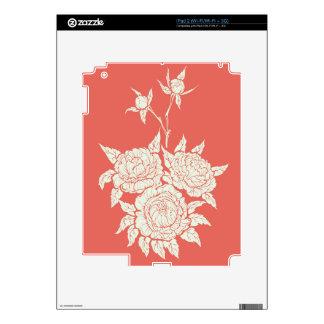 flourishing peonies skins for iPad 2