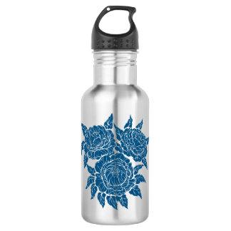 flourishing peonies water bottle