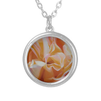 Flourishing Rose Silver Plated Necklace
