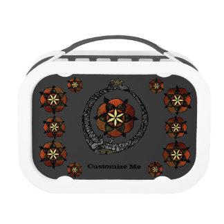 FlouroborosOfLife (Ouroboros & FlowerOfLife) Yubo Lunch Boxes