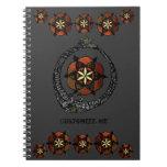 FlouroborosOfLife (Ouroboros & FlowerOfLife) Spiral Notebooks