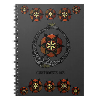 FlouroborosOfLife (Ouroboros & FlowerOfLife) Spiral Notebook