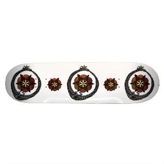 FlouroborosOfLife (Ouroboros y FlowerOfLife) Patineta Personalizada