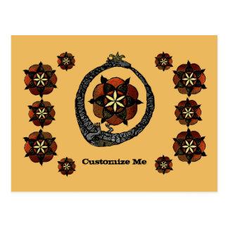 FlouroborosOfLife (Ouroboros y FlowerOfLife) Tarjeta Postal