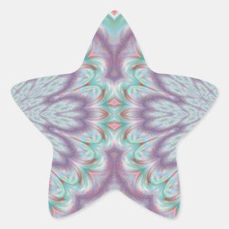 [FLOW-002] Floral fractal Star Sticker