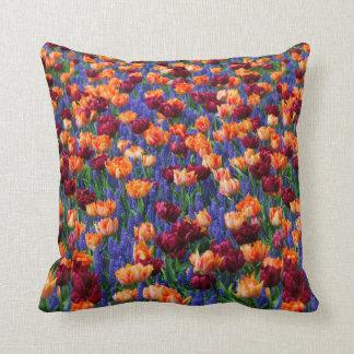[FLOW-003] Flower field Throw Pillows