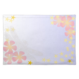 FLOW-004 Dragonfly flowers Place Mats
