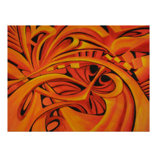 Flow Abstract Painting Poster