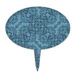 Flow Blue Kaleidoscope Oval Cake Topper