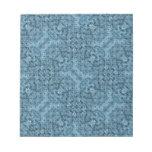 Flow Blue Kaleidoscope Scratch Pads