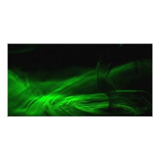Flow/Fluorescein in water Customized Photo Card
