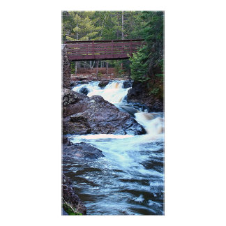 Flow From The Bridge Photo Card Template