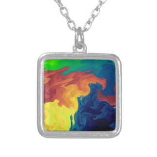 flow mix silver plated necklace