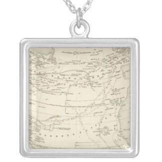 Flow of Air North Atlantic Silver Plated Necklace