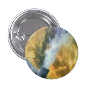 Flow of bubbles 1 inch round button