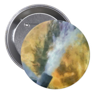 Flow of bubbles 3 inch round button