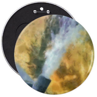 Flow of bubbles 6 inch round button