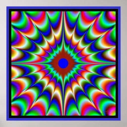 Flow of Color Bangs Print