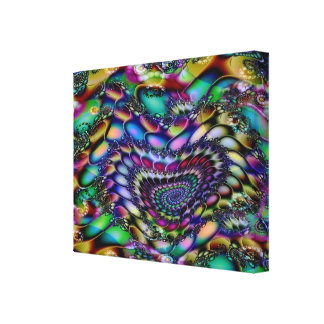 Flow of the Heart Psychedelic Tapestry Poster Canvas Print