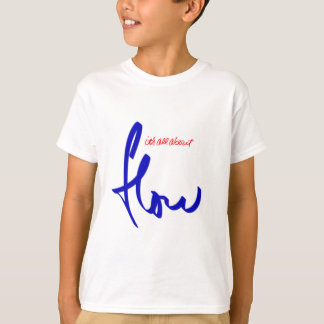 flow snowboarding logo blue T-Shirt