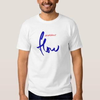 flow snowboarding logo blue tee shirt