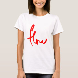 flow snowboarding logo red T-Shirt