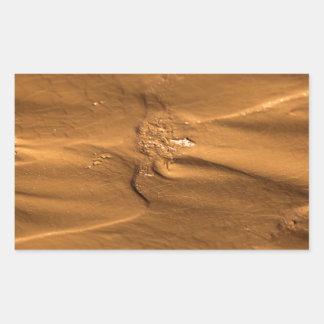 Flow structures in wet mud rectangular sticker