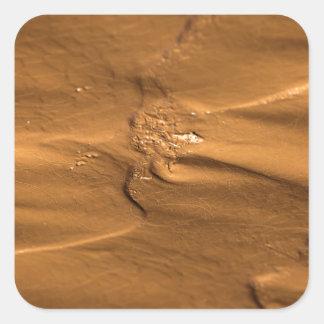 Flow structures in wet mud square sticker