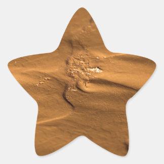 Flow structures in wet mud star sticker