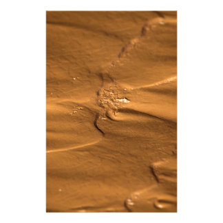 Flow structures in wet mud stationery