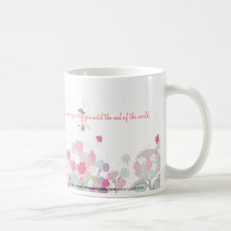 flower02.3, flower02.3, The real world always h... Classic White Coffee Mug