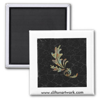 flower3 2 inch square magnet